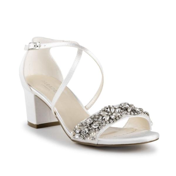 EVANGELINE, törtfehér szatén cipő