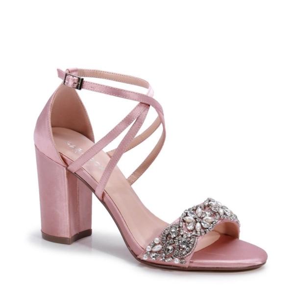 HIRA, púderrózsaszín szatén cipő
